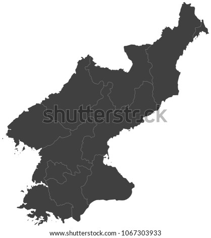 Map north korea split into regions stock vector hd royalty free map of north korea split into regions publicscrutiny Gallery