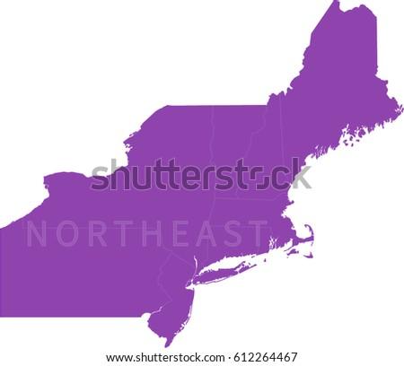 Map Of Northeastern Us
