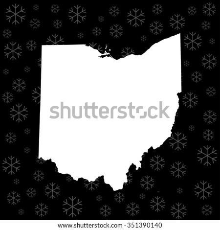 map of Ohio - stock vector