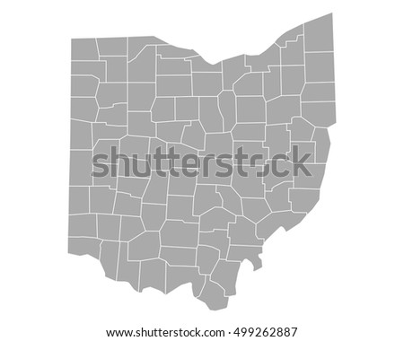 Ohio County Map Stock Images RoyaltyFree Images Vectors - Ohio county map