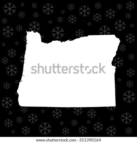 map of Oregon - stock vector