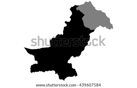 map of Pakistan - stock vector