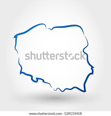 map of poland. map concept - stock vector