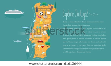 Portugal Map Stock Images RoyaltyFree Images Vectors - Portugal map icon