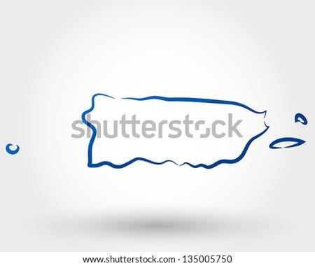 map of puerto rico. map concept - stock vector