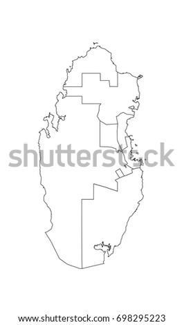 Map Qatar Stock Vector 698295223