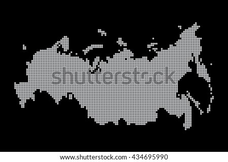map of russia. illustration geography vector cartography, art - stock vector