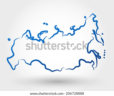 map of russia. map concept - stock vector