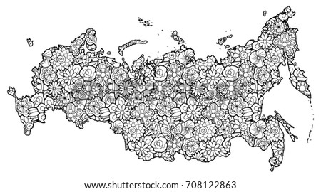 Russian Federation Map Stock Images RoyaltyFree Images Vectors
