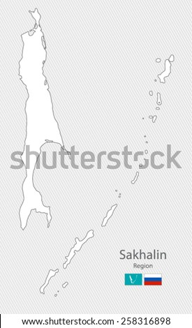 Map of Sakhalin Region, Russia