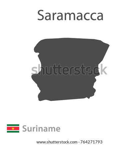 Map of Saramacca. Vector illustration.