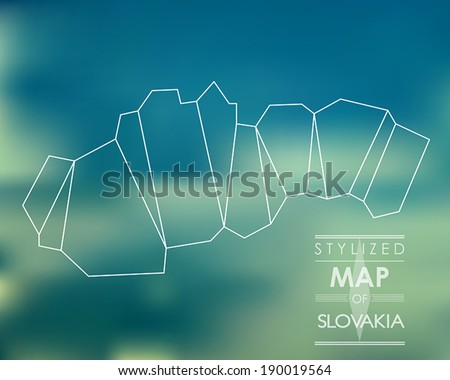 map of Slovakia. stylized map concept - stock vector