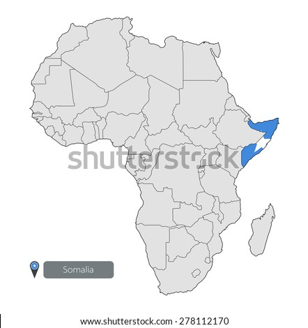Map Somalia Official Flag Location On Stock Vector 278112170
