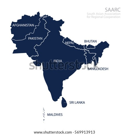 map of south asian association for regional cooperation saarc map with countries list