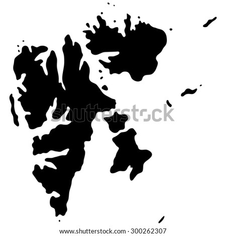 map of Svalbard, Norway
