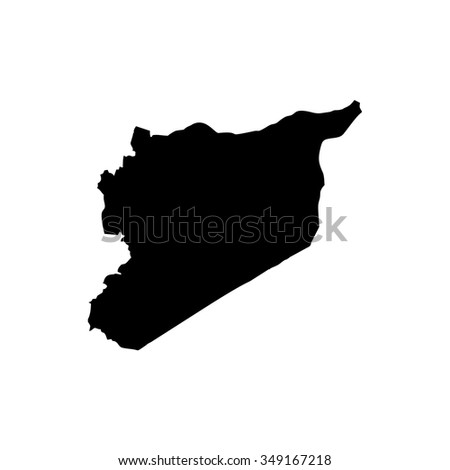 Map of Syria - stock vector