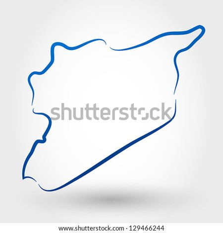 map of syria. map concept - stock vector