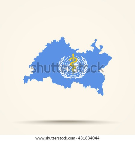 Map of Tatarstan in World Health Organization flag colors