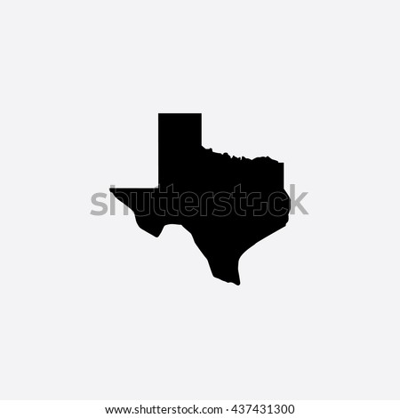 Map of Texas Vector Illustration