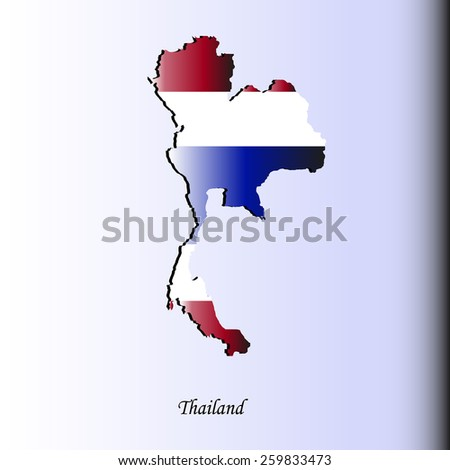 Map of Thailand for your design, concept Illustration.