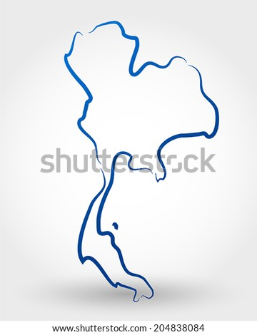 map of thailand. map concept - stock vector