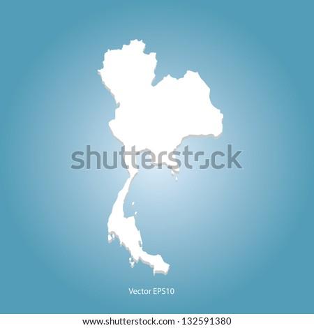 Map of Thailand Vector - stock vector