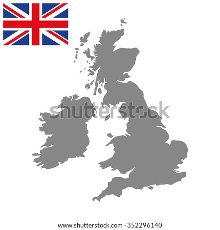 Map of the Great Britain - stock vector