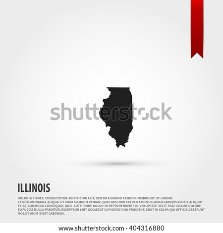 Map Of The Illinois State Vector Ilration Design Element Flat Style Design Icon