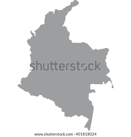 Grey Map Colombia Stock Vector Shutterstock - Columbia us map