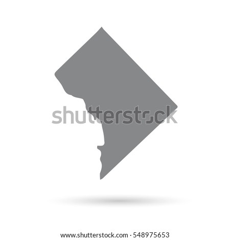 District Of Columbia Map Stock Images RoyaltyFree Images - Us map district of columbia