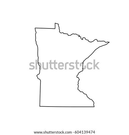 Map Of The U S State Minnesota
