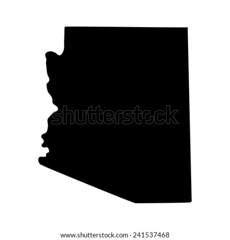 Map Of The U S State Of Arizona
