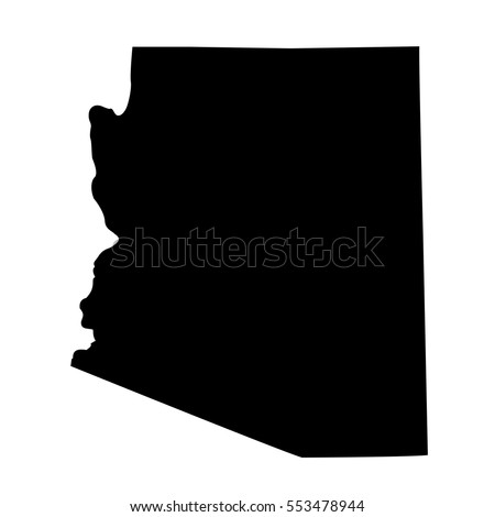 Map Us State Arizona Stock Vector Shutterstock - Us vector map
