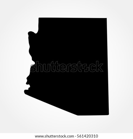 Map Of The U S State Of Arizona