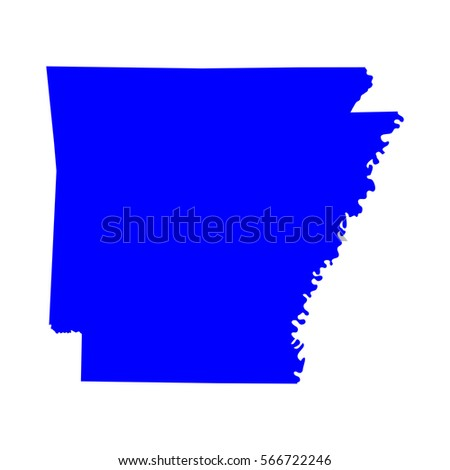 Map Of The U S State Of Arkansas Vector