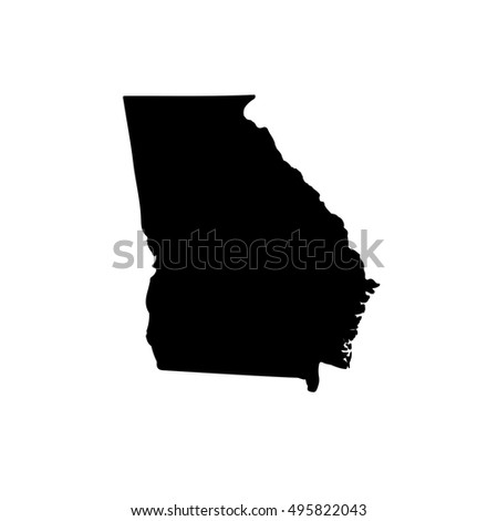 map of the u s state of georgia on a white background