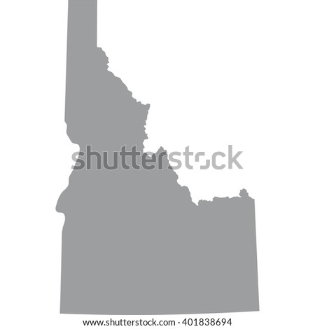 map of the U.S. state of Idaho  - stock vector