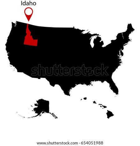 Idaho Map Us Globalinterco - Send us map
