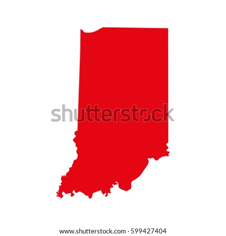 Indiana Map Stock Images RoyaltyFree Images Vectors Shutterstock - Indiana on us map