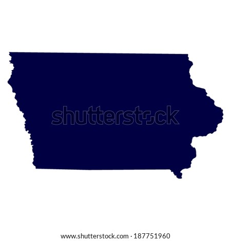 Map Us State Iowa Stock Vector Shutterstock - Us map iowa