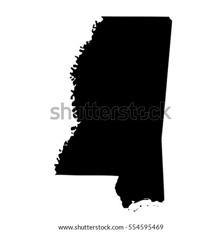 Map Us State Mississippi Stock Vector Shutterstock - Us map of mississippi