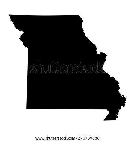 map of the U.S. state of Missouri  - stock vector