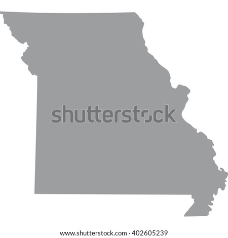 Map Us State Missouri Stock Vector Shutterstock - Missouri map of us