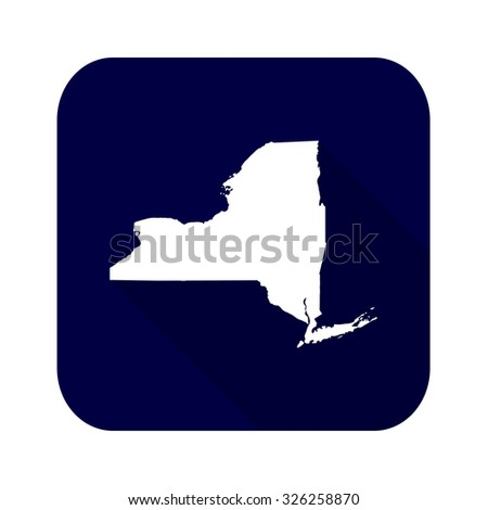 Map Of The U S State Of New York