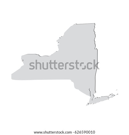 Ny State Us Map Globalinterco - Us map redrawn background