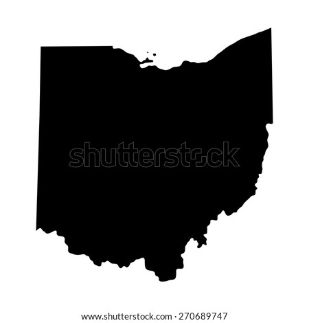 Map Of The U S State Of Ohio