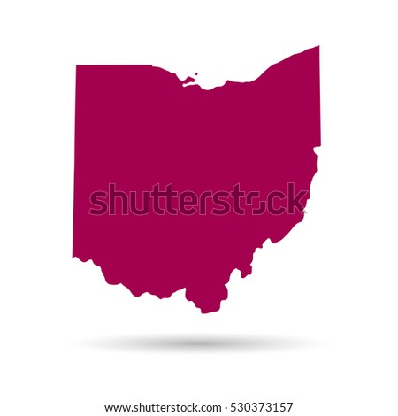 Map of the U.S. state of Ohio on a white background