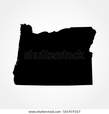 Map Of The U S State Of Oregon