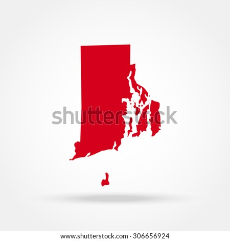 Map Of The U S State Of Rhode Island