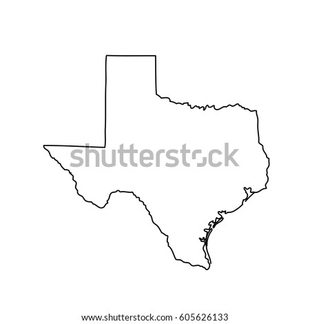 Map Us State Texas Stock Vector Shutterstock - Us map of texas
